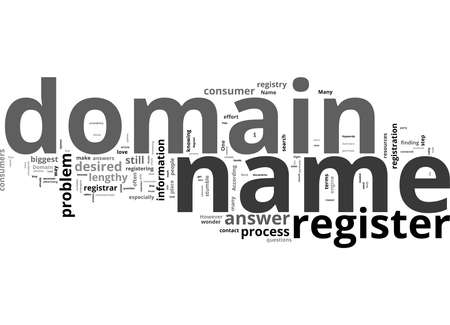 Word Cloud Summary of The Right Way To Register Your Domain Name Article