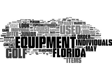 Word Cloud Summary of Junior Used Golf Course Equipment Florida Article