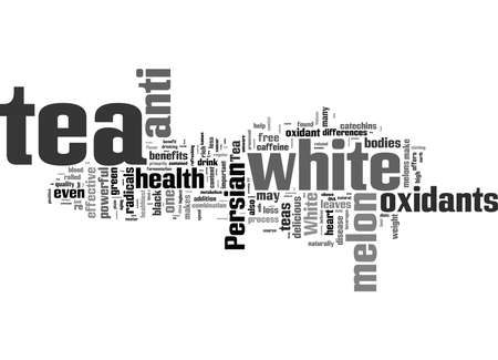 Word Cloud Summary of Tea How Is White Persian Melon Tea Different From Other Teas Article Stock fotó