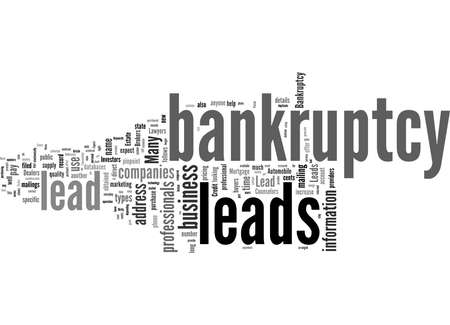 Word Cloud Summary of How To Find Qualified Bankruptcy Leads Article