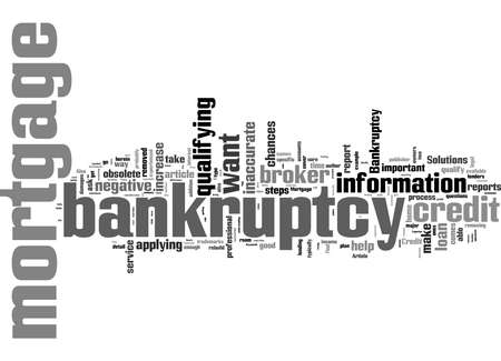 Word Cloud Summary of Mortgage After Bankruptcy These Steps Could Help Article Stock fotó