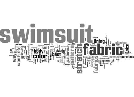 Word Cloud Summary of How to Make Your Own Swimsuit Article