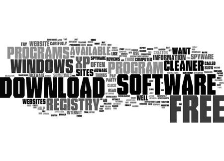 Word Cloud Summary of How To Choose A Free Windows XP Registry Cleaner Article