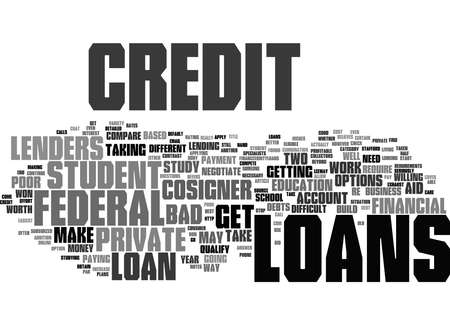 Word Cloud Summary of How to Get Poor Credit Student Loans Article