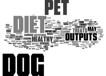 Word Cloud Summary of How Your Dogs Diet Affects Outputs Article