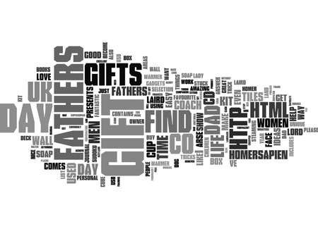 Word Cloud Summary of Stuck for Fathers Day gifts Find me a gift has the answer Article