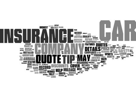 Word Cloud Summary of How To Save Money On Your Car Insurance Article