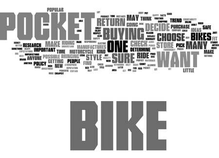 Word Cloud Summary of How to Buy a Pocket Bike Article