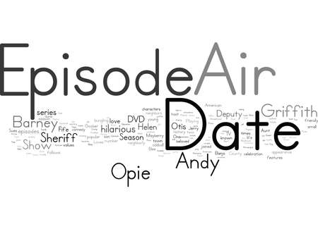 Word Cloud Summary of The Andy Griffith Show Season 5 DVD Review Article 免版税图像