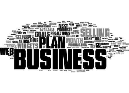 Word Cloud Summary of Web Business Overview Have a Plan Article