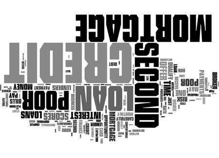 Word Cloud Summary of Poor Credit Second Mortgage Loans Article