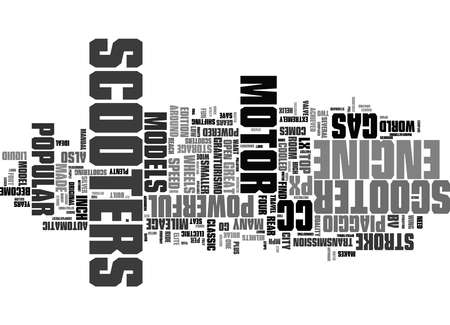Word Cloud Summary of Popular Motor Scooters Compared Article 免版税图像