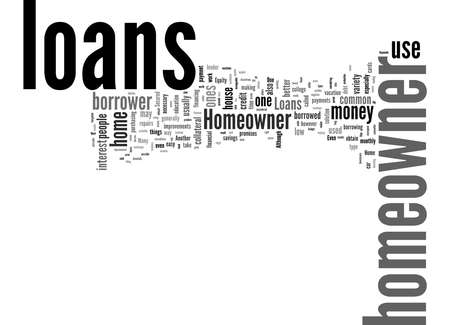 Word Cloud Summary of What Can Homeowner Loans Be Used For Article