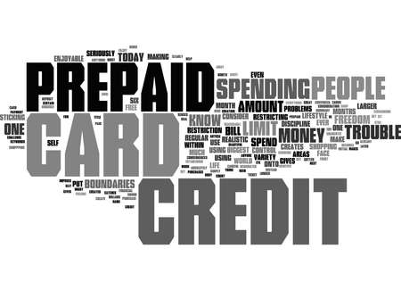 Word Cloud Summary of Is A Prepaid Credit Card Right For You Article
