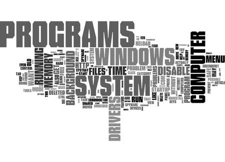 Word Cloud Summary of Speed Up Your Slow PC Article 免版税图像