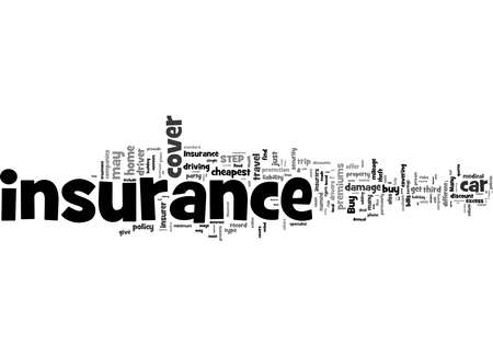 Word Cloud Summary of Insurance Explained Article 免版税图像