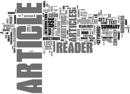 Word Cloud Summary of How To Structure Your Article To Get Published Article