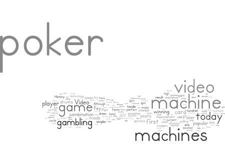 Word Cloud Summary of Video Poker History Article 免版税图像