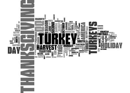 Word Cloud Summary of Turkey Trot Article 免版税图像