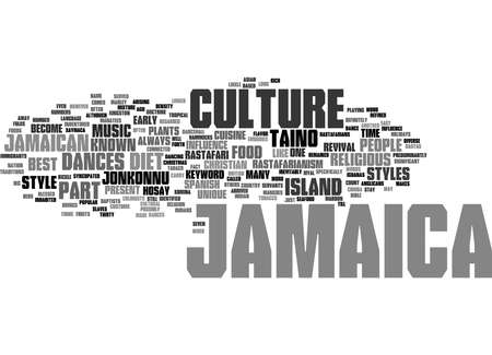 Word Cloud Summary of Jamaica Culture Article
