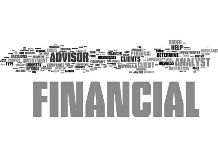 Word Cloud Summary of The Importance Of A Financial Advisor Article