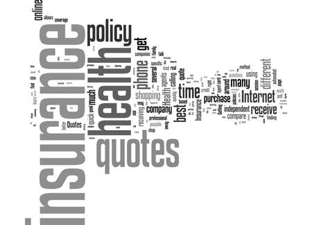 Word Cloud Summary of Health Insurance Quotes Article