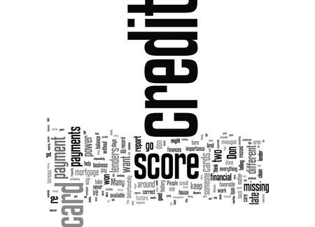 Word Cloud Summary of Top Four Credit History Blunders Article