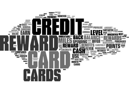 Word Cloud Summary of What Are Reward Credit Cards Article 免版税图像