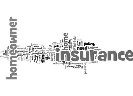 Word Cloud Summary of How To Compare Low Cost Homeowner s Insurance In Florida Article