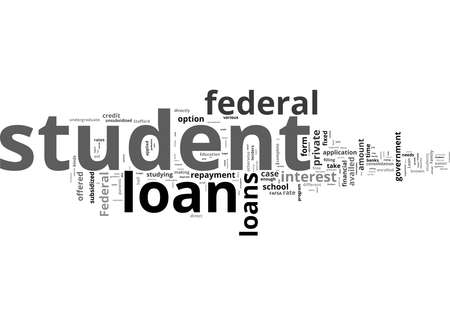 Word Cloud Summary of Types of Federal Student Loans Article
