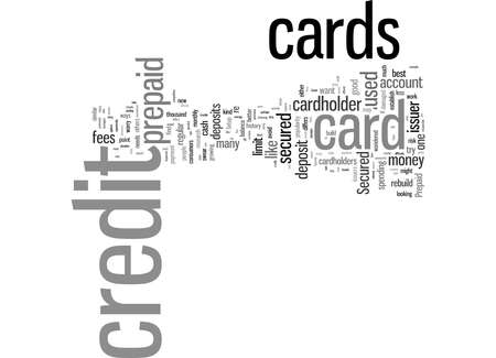 Word Cloud Summary of Secured And Prepaid Credit Cards Article