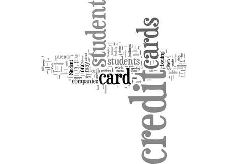 Word Cloud Summary of With Student Credit Cards Try To Impress The Friends Article