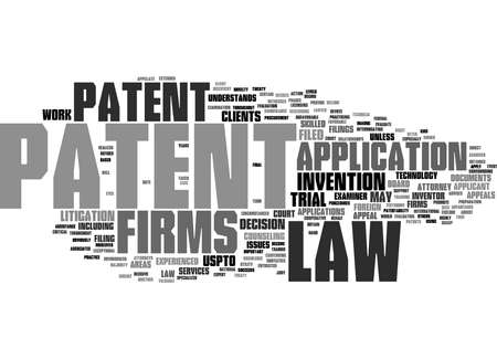 Word Cloud Summary of Patent Law Firms Article