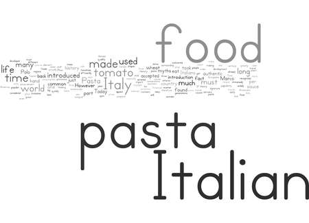 Word Cloud Summary of The History of Pasta in Italian Food Article