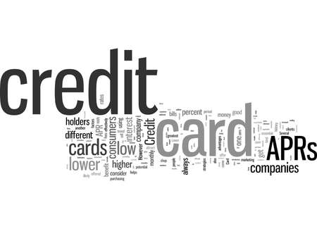 Word Cloud Summary of Low APR Credit Card Boost Credit Card Sales Article