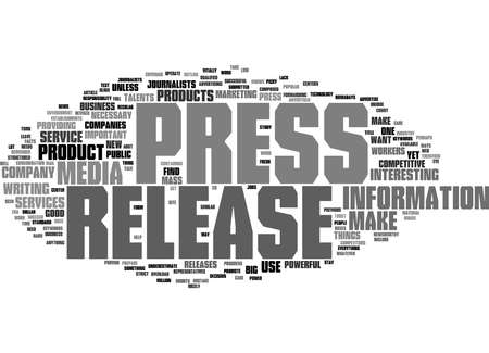 Word Cloud Summary of Make a Press Release Work on You Article