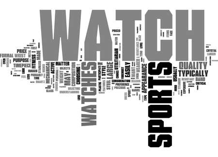 Word Cloud Summary of How To Choose The Right Sports Fitness Watch Article 免版税图像
