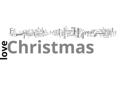Word Cloud Summary of The Reasons I Love Christmas Article