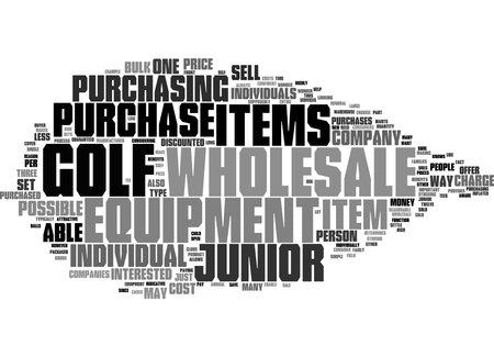 Word Cloud Summary of Junior Wholesale Golf Equipment Article 免版税图像
