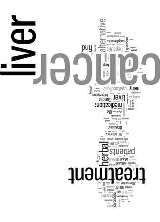 Word Cloud Summary of article Alternative herbal liver cancer cure 免版税图像