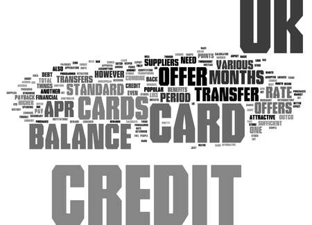 Word Cloud Summary of Uk Credit Cards And Balance Transfers Article