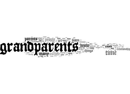 Word Cloud Summary of The Gift Of Grandparents Article 免版税图像