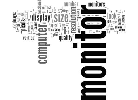 Word Cloud Summary of What To Look For In A Computer Monitor Article