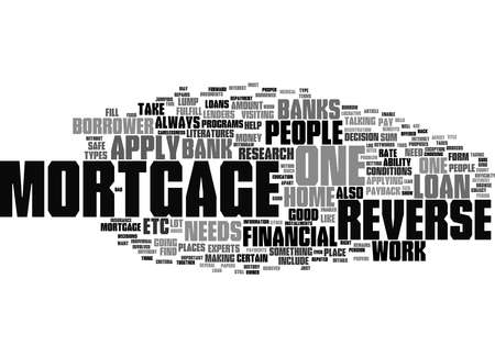 Word Cloud Summary of Reverse Mortgage Article