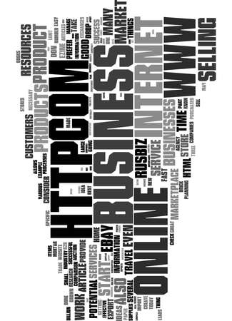 Word Cloud Summary of article 5 Hot Internet Businesses For 2005