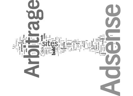 Word Cloud Summary of Profit Adsense Arbitrage Model For Arbitrage Success Article 免版税图像