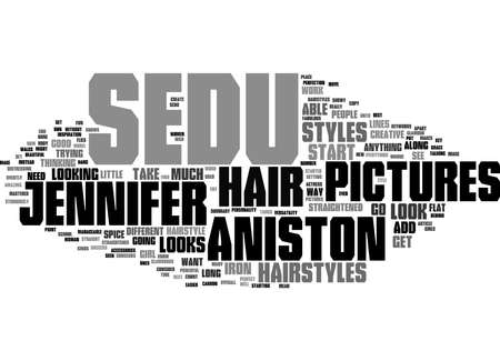 Word Cloud Summary of Jennifer Aniston s Best Sedu Hairstyles Pictures Article 免版税图像