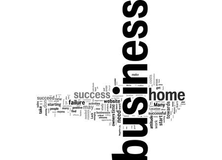 Word Cloud Summary of Top reasons for failure in home business Article 免版税图像