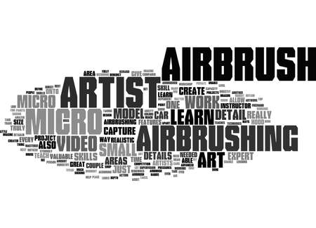 Word Cloud Summary of Why You Should Learn Micro Airbrush Art Article 免版税图像