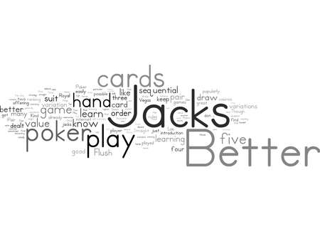 Word Cloud Summary of How To Play Jacks Or Better Poker Article 免版税图像